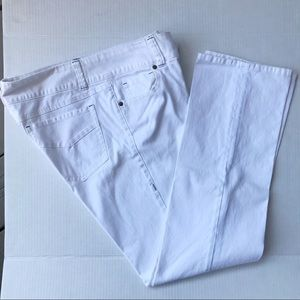 Cabi White Jeans Style #879 Straight Leg